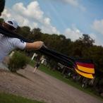 Riemen in den Deutschlandfarben